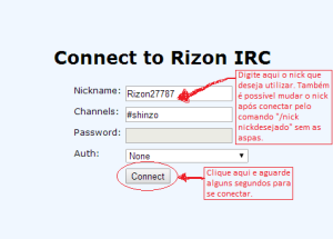 connect to Rizon IRC